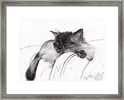 Sleepy Baby Framed Print
