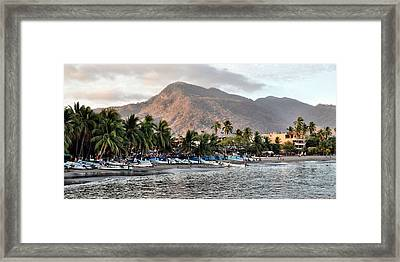 Sleepy Fishing Village Framed Print