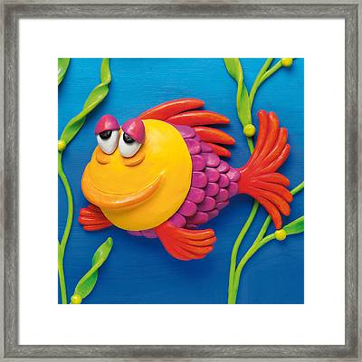 Sleepy Grouper Framed Print
