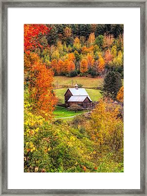 Sleepy Hollow Farm In Fall Framed Print