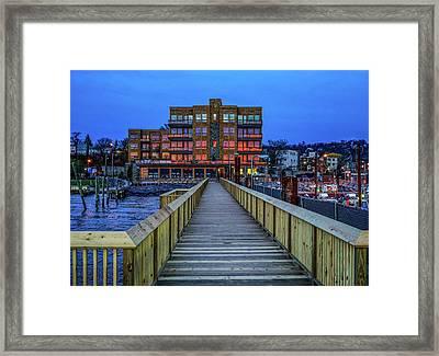 Sleepy Hollow Pier Framed Print by Jeffrey Friedkin