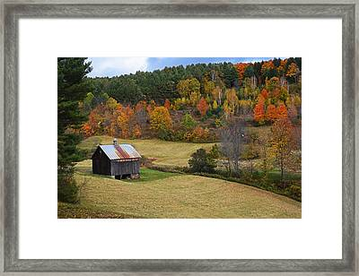 Sleepy Hollows Farm Woodstock Vermont Vt Pond Shack Framed Print by Toby McGuire