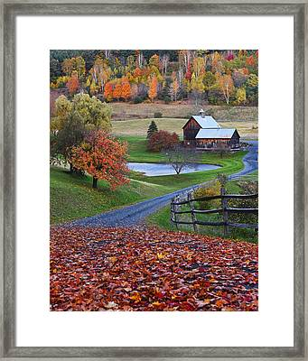Sleepy Hollows Farm Woodstock Vermont Vt Framed Print by Toby McGuire