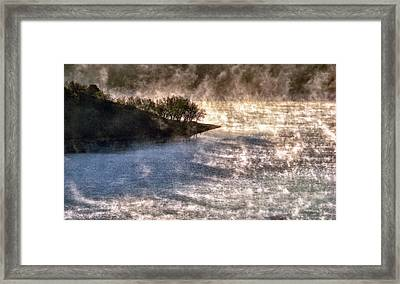 Sleepy Morning On The Lake Framed Print