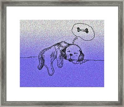 Sleepy Puppy Dreams Framed Print
