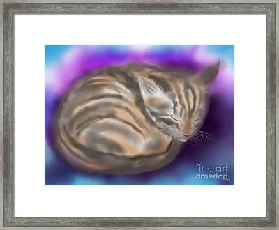 Framed Print featuring the painting Sleepy Sam by Nick Gustafson