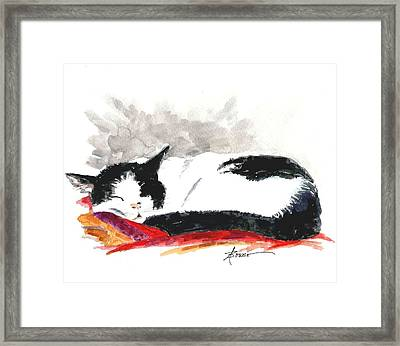 Sleepy Time Boy Framed Print
