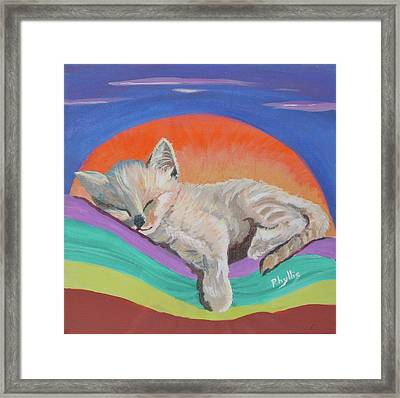Framed Print featuring the painting Sleepy Time by Phyllis Kaltenbach