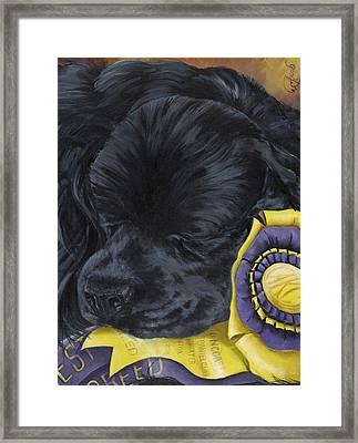 Sleepy Time Spader Framed Print by Gilda Goodwin