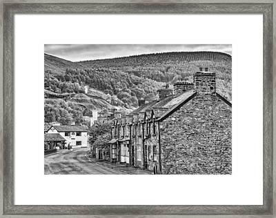 Sleepy Welsh Village Framed Print