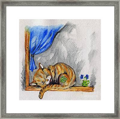 Sleepyhead Framed Print by Angel  Tarantella