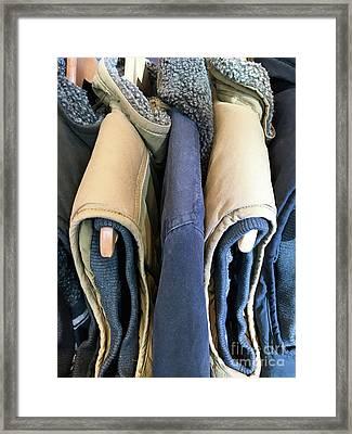 Sleeveless Jackets Framed Print