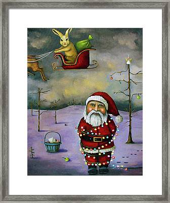 Sleigh Jacker Framed Print by Leah Saulnier The Painting Maniac