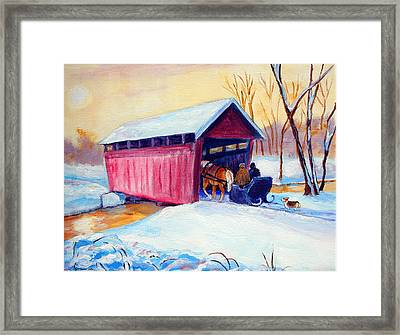 Sleigh Ride - Pembroke Welsh Corgi Framed Print