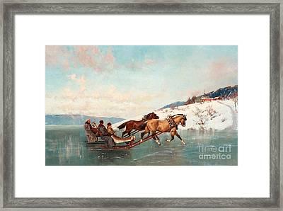 Sleigh Ride Framed Print by Axel Ender