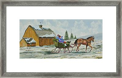 Sleigh Ride Framed Print by Charlotte Blanchard