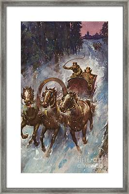 Sleigh Ride Framed Print by James Edwin McConnell