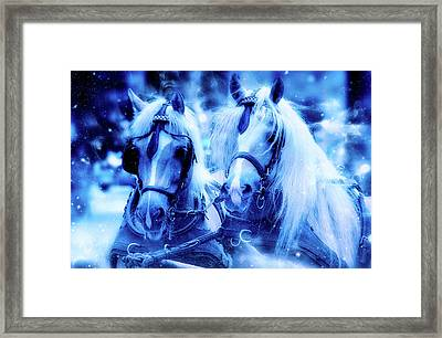 Sleigh Ride Framed Print by Ractapopulous