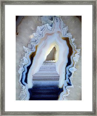 Slice Of Agate Framed Print