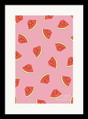 Watermelon Drawings Framed Prints