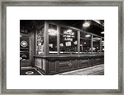 Slice Of Life In Wilmington North Carolina In Black And White Framed Print by Greg Mimbs