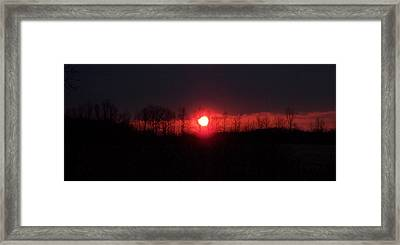 Slice Sunset Framed Print