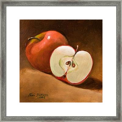 Sliced Apple Framed Print by Joni Dipirro
