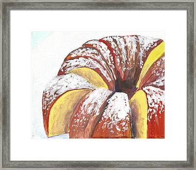 Sliced Bundt Cake Framed Print