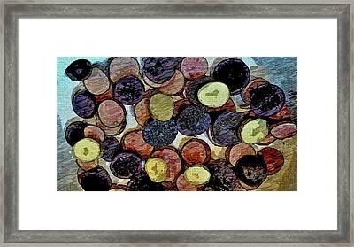 Sliced Finger Potatoes Framed Print