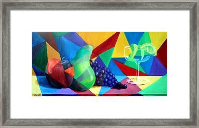 Sliced Fruit Framed Print by Maryn Crawford