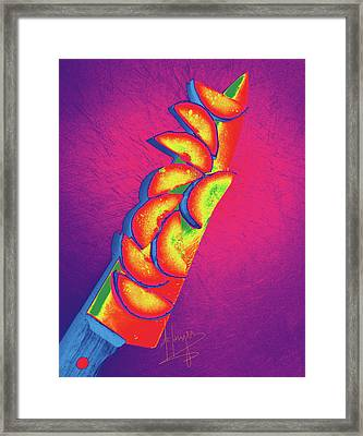 Slices Framed Print