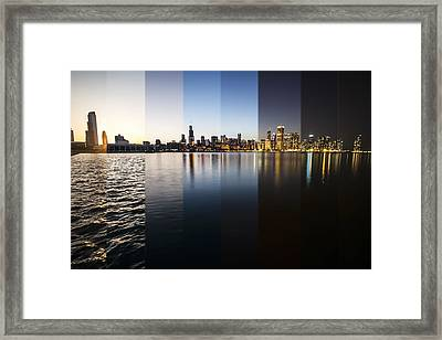 Slices Of The Chicago Skyline Framed Print by Sven Brogren