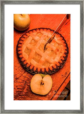 Slicing Apple Pie Framed Print by Jorgo Photography - Wall Art Gallery