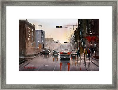 Slick Streets Framed Print by Ryan Radke