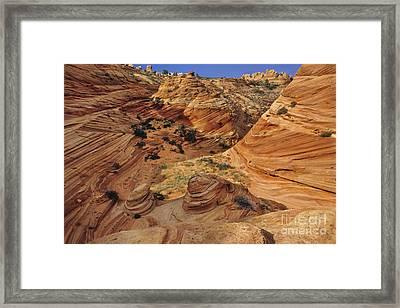 Slickrock, Vermilion Cliffs, Usa Framed Print by Frans Lanting/MINT Images