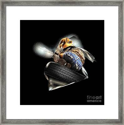 Slide Off Tire Framed Print by Viktor Savchenko