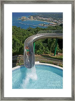 Slide With A View  Framed Print