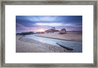 Framed Print featuring the photograph Sliding Into Time by Bruno Rosa