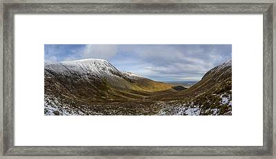 Slieve Commedagh And Slieve Donard Panorama From The Assent  Framed Print