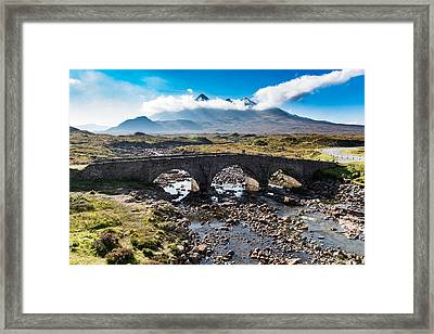 Framed Print featuring the photograph Skye Cuillin From Sligachan by Gary Eason