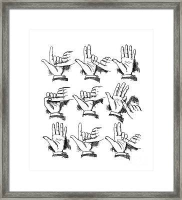 Slight Of Hand Framed Print by Edward Fielding