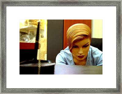 Slightly Coy Framed Print by Jez C Self
