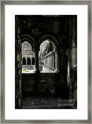 Framed Print featuring the photograph Sligo Abbey Interior by RicardMN Photography