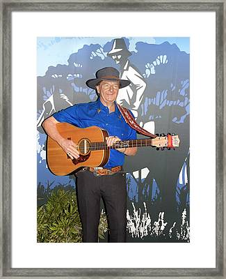 Slim Dusty Framed Print