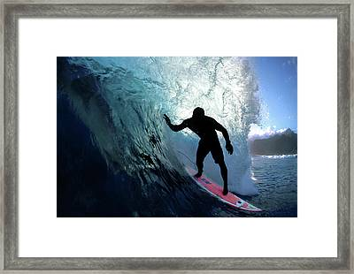 Slingshot Framed Print by Sean Davey