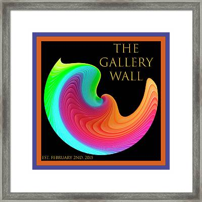 Framed Print featuring the photograph Slinky Dove Of Peace-the Gallery Wall Logo by Wendy Wilton