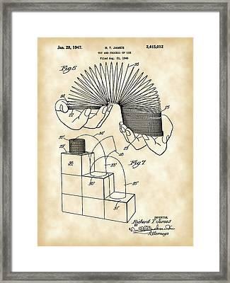 Slinky Patent 1946 - Vintage Framed Print by Stephen Younts