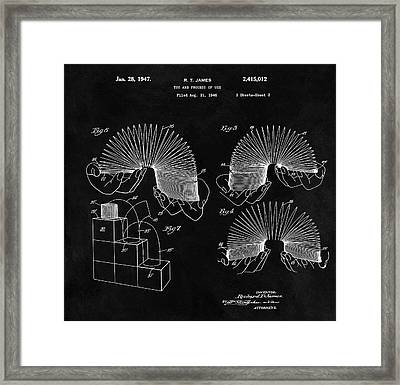 Slinky Patent Design  Framed Print by Dan Sproul