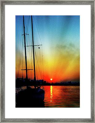 Slipper Island Sunset Framed Print