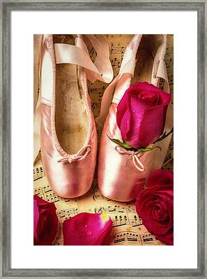 Slippers And Roses Framed Print